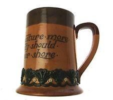 c1895 Doulton Lambeth salt glazed stoneware motto ware tankard - Vessels large