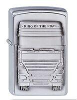 ZIPPO Benzin Feuerzeug King of the Road Emblem LKW Trucker NEU PORTOFREI