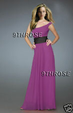 SWEET ONE SHOULDER! PURPLE LONG BRIDESMAID/EVENING/FORMAL/PROM DRESS AU 18/US 16