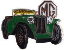 MG TC car cut out lapel pin - Green