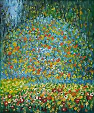 """Repro 20""""x24"""" Hand Painted Gustav Klimt Oil Paintings on Canvas - Apple Tree I"""