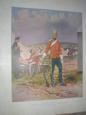 British army Sentry of 5th Dragoon Guards Geoges Scott 1901 old colour print