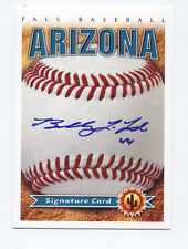 2012 Arizona Fall League AUTO card BOBBY LaFROMBOISE Mariners