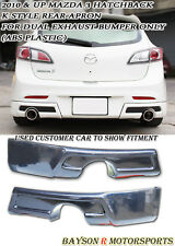 K-Style Rear Aprons (Dual Exhaust) Fits 10-13 Mazda 3 5dr