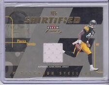 2003 Fleer Focus Plaxico Burress NFL Shirtified Jersey 97/175 Steelers