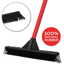 Rubber Broom Perfect Clean For Pet Grooming Hair Floor Clings Light Weight 40 CM