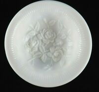 Vintage IMPERIAL GLASS CO. Milk Glass Bowl Rose Pattern Tri-Footed Glossy