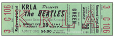 1 BEATLES VINTAGE UNUSED FULL CONCERT TICKET 1966 Dodger Stadium laminated green