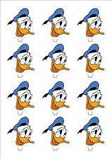 Novelty Donald Duck Head Stand Up Fairy Cake Cupcake Topper Edible Birthday Cute