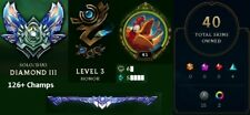 EUW League of Legends Diamond 3 Account, 40 Skins, almost all champs