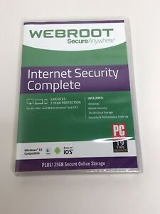 Webroot Internet Security Complete 5 Devices - 1 Year New Sealed