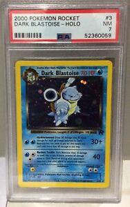 2000 Pokemon Team Rocket no3 Dark Blastoise Holo - PSA7 Near Mint