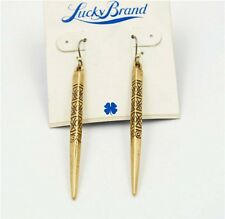 New Alloy Retro Lucky Brand Gold Tone Nail Earrings