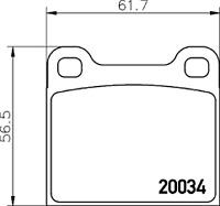 ATE Bremsbelagsatz Scheibenbremse 13.0460-4035.2 für ALFA ROMEO FORD OPEL