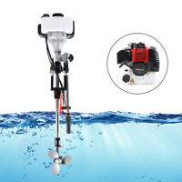 2 Stroke Outboard Motor Inflatable Fishing Boat Engine Water Cooling 52CC Good