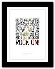 More details for van halen - and the cradle will rock ❤ typography quote poster art print #80