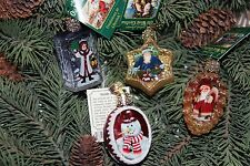 *Set of 4 Inside Art - Variety #2* Old World Christmas Glass Ornament - NEW