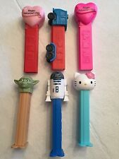 PEZ Dispenser lot of 6 - 3- NO FEET and 3 with FEET. See Pictures