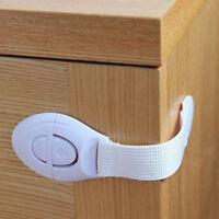 10X Baby Cupboard Cabinet Safety Locks Proofing Door Drawer Fridge Kids #D8C