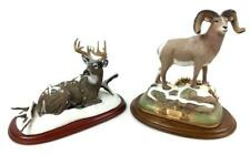 (2) Animal Sculptures W/ Stag & Bighorn Sheep Lot 1008