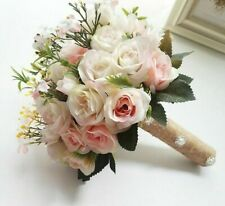 Wedding Bouquet Flowers Marriage Accessories Small Bridal Bouquets Silk Roses On