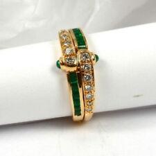 Echtschmuck-Ringe mit Rahmengröße 53 (16,8 mm Ø) Smaragd