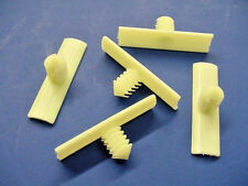 5 GM White Nylon Wiring Harness Retainers Fasteners Clips NOS Electrical Plastic
