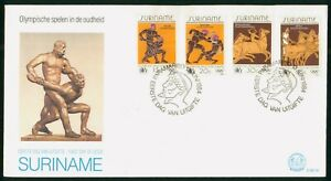 MayfairStamps Suriname 1984 Combo 4 Ancient Olympics First Day Cover wwo48245