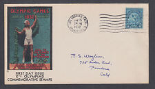 US Mel 719-9 FDC. 1932 5c Olympics, Olympic Cover Co cachet shows Discus Thrower