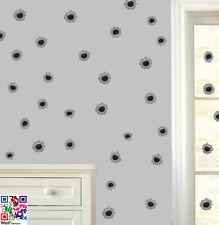 BULLET fori confezione da 120 Wall art Adesivi Decalcomanie Murales RAGAZZI Army Soldier GUN