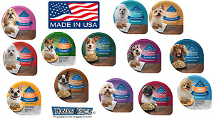 4 PACK Trays Blue Buffalo Divine Delights Dog Food Made In USA