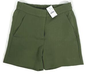 "J. Crew Womens 4"" Drapey Crepe Shorts Olive Green Size 2"