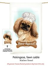 "Pekingese Dog 29'' x 29"" Flour Sack Towels, Bone-Appetite !"