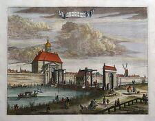 Amsterdam, de weeseper Asador, orfanato Puerta, Commelin antiguo de impresión de 1693