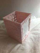 Pretty Pink Shabby Chic Photo Pen Holder