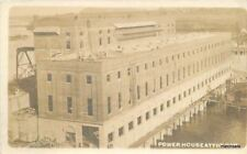 1914 Prairie Du Sac Wisconsin Powerhouse Dam RPPC Real Photo postcard 2826