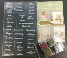 Anna Griffin Sentiments Stamp Set 38 Designs All Occasion Expressions