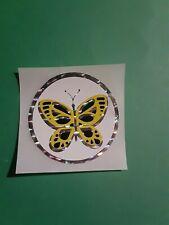 vintage 80's prism butterfly sticker *restored*(free ship $20 min)