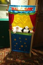 wooden puppet theatre with Animal Puppets