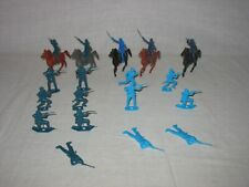 MPC Multiple Products Corp. 23 Plastic Civil War/Cavalry Soldiers & Horses 54mm