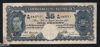Australia R-47.  (1949) Coombs/Watt - Five Pounds.. VF
