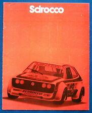 Prospectus Brochure 1980 VOLKSWAGEN VW SCIROCCO (USA)