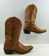 Ladies Wrangler Brown Leather Western Boots Size : 8 M
