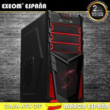 Caja ATX Ordenador Pc Gaming de Sobremesa Torre Kron Roja USB Frontal Sin Fuente