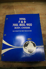 1996  FORD  F&B 700 800 900 HD TRUCK  body / chassis shop manual  VG Condition