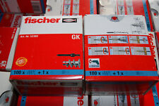 100 Fischer GK Dübel Gipskartondübel u Schwert Rigipsdübel Plattendübel Schnecke