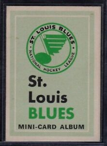 1969/70 OPC St.Louis Blues Mini-Card Album Empty Grades EX