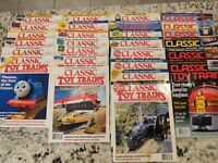 Lot of 27 VINTAGE CLASSIC TOY TRAINS MAGAZINES Years 1995 to 1998