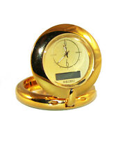 Seiko Qht201Glh Travel Alarm Clocks Analog & Digital Solid Brass
