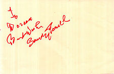 RADIO COMEDIAN SANDY POWELL HANDSIGNED 6 x 4 AUTOGRAPH ALBUM PAGE (a)